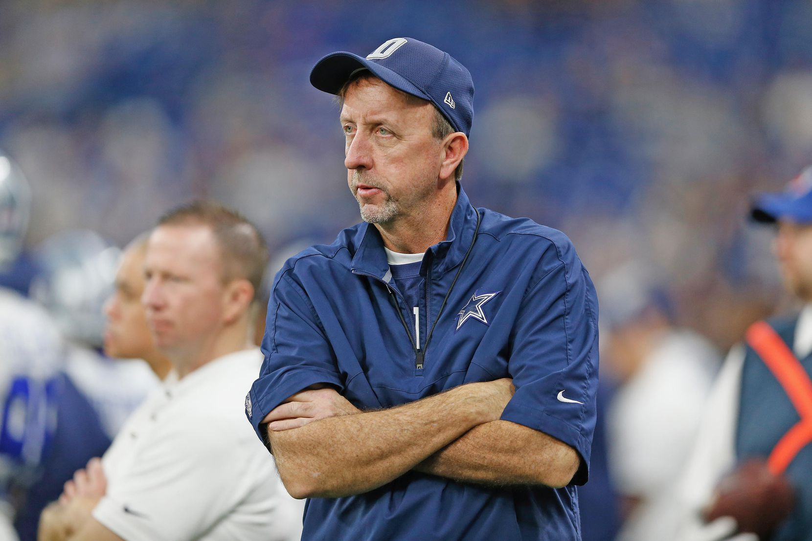Cowboys equipment manager Mike McCord.  16 December 2018:   Mike McCord        of the Dallas Cowboys during their NFL week 15 regular season 23-0 loss to the Indianapolis Colts at Lucas Oil  Stadium in Indianapolis, Indiana. Photo by James D. Smith/Dallas Cowboys