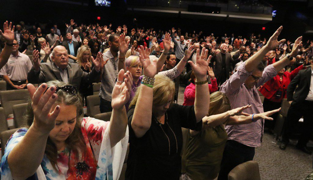 Solemn Assembly Called 'The Gathering' Seeks Nation's Return to God  People enjoy worship in September, 2016 at Gateway Church in Southlake. Christian leaders from across America came together for a day of prayer and solemn assembly to call the nation to return to God.