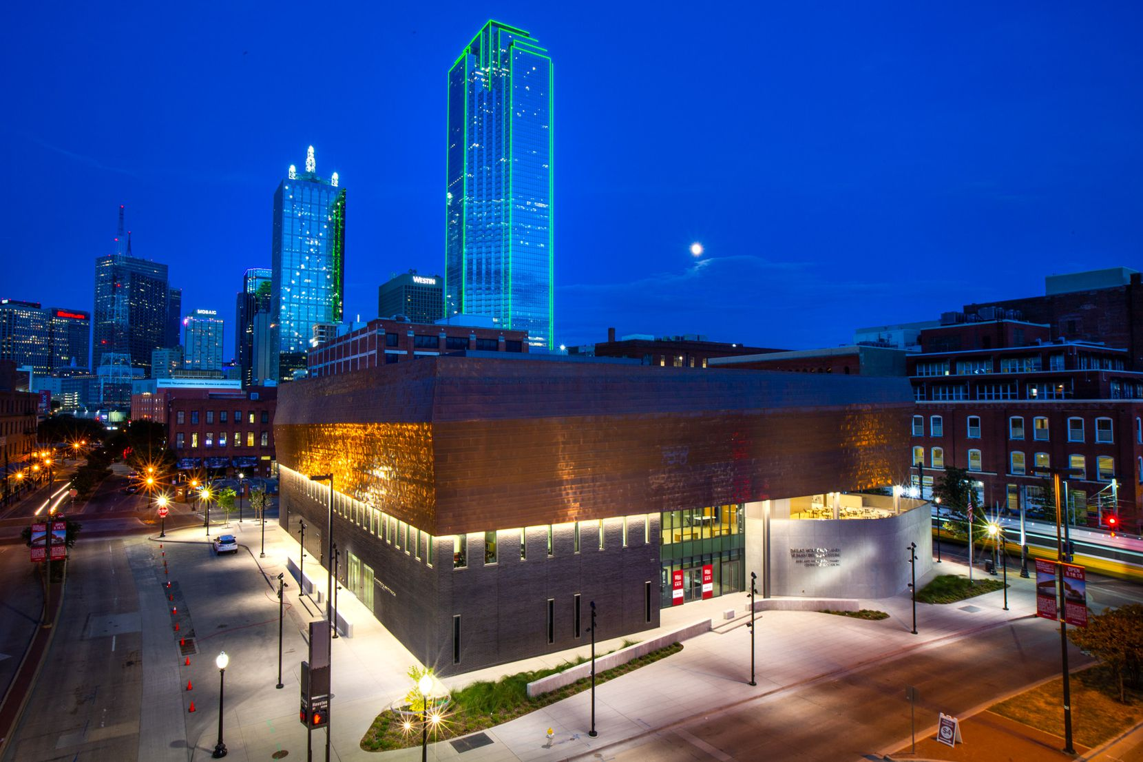 This Sept. 11, 2019, file photo shows the then-new Dallas Holocaust and Human Rights Museum.
