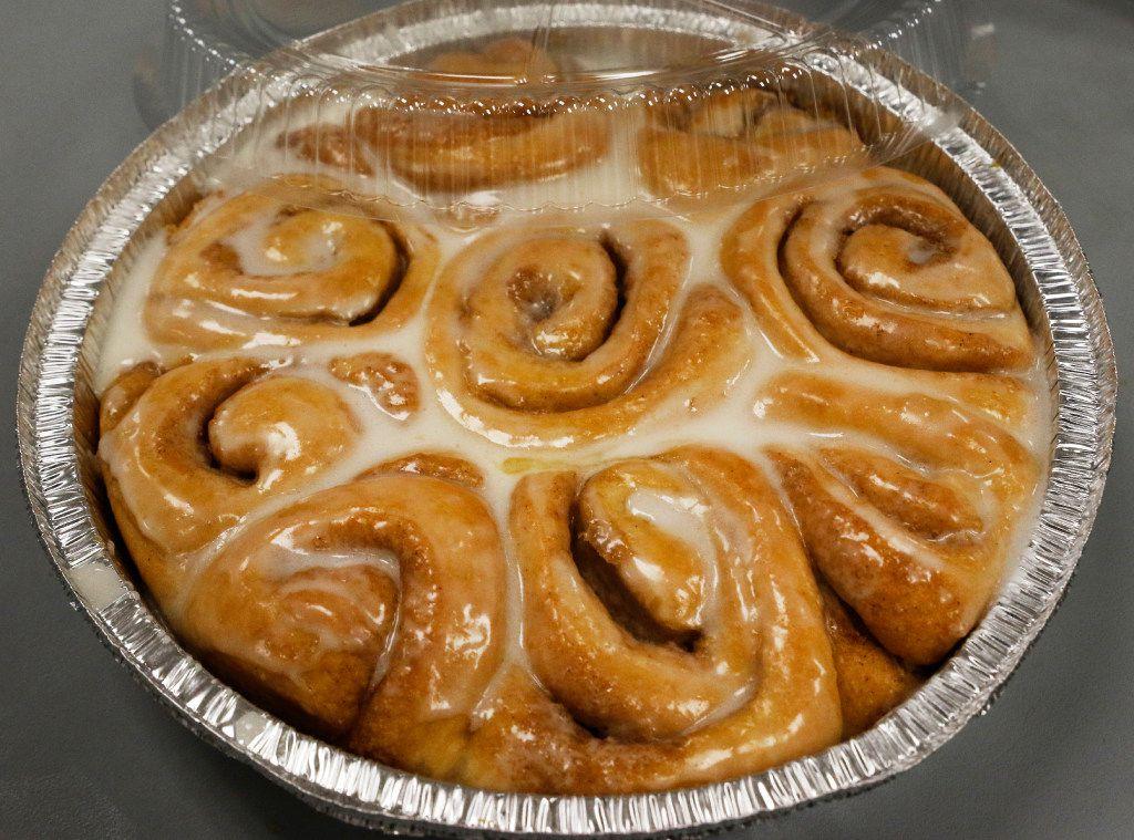 RoRo's Baking Company in Dallas bakes 5,400 cinnamon rolls per day.