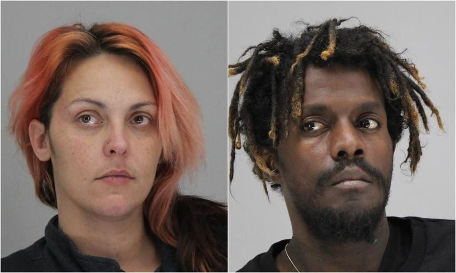 Police arrested two people accused of stealing packages from nine homes in Dallas. Police identified them as Amanda Brown and Hassan Suileman.