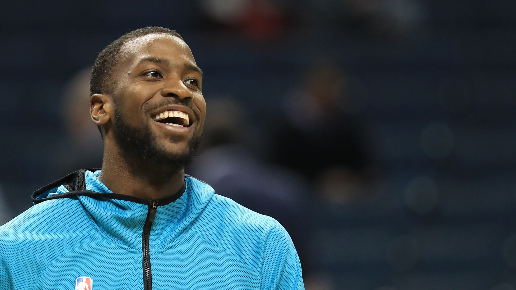 CHARLOTTE, NORTH CAROLINA - NOVEMBER 05: Michael Kidd-Gilchrist #14 of the Charlotte Hornets watches on before their game against the Indiana Pacers at Spectrum Center on November 05, 2019 in Charlotte, North Carolina. NOTE TO USER: User expressly acknowledges and agrees that, by downloading and or using this photograph, User is consenting to the terms and conditions of the Getty Images License Agreement.