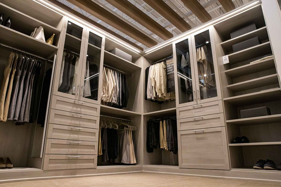 A display of Laren, a custom closet by The Container Store, is shown at Galleria North in Dallas.