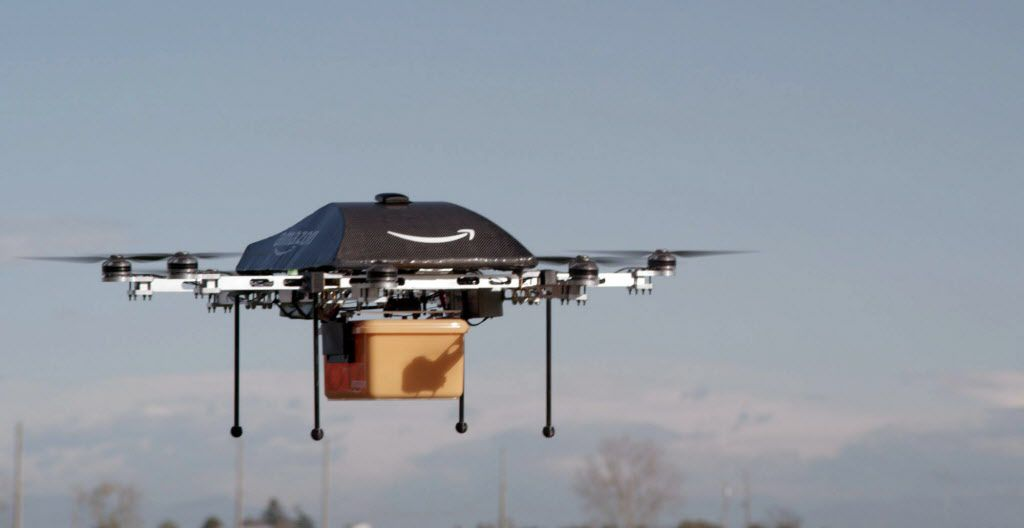 Both Amazon and Walmart are trying to make drone deliveries a thing.