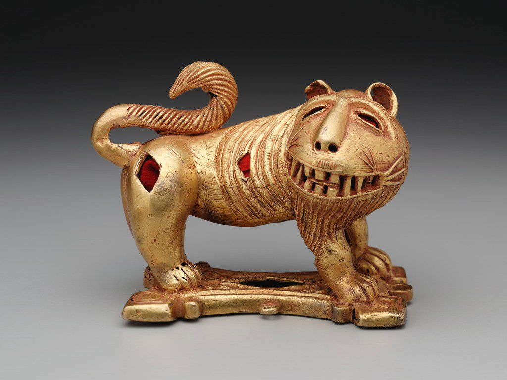 The Eugene and Margaret McDermott Art Fund has provided many pieces to the Dallas Museum of Art, including this African sword ornament in the form of a lion. (Dallas Museum of Art)