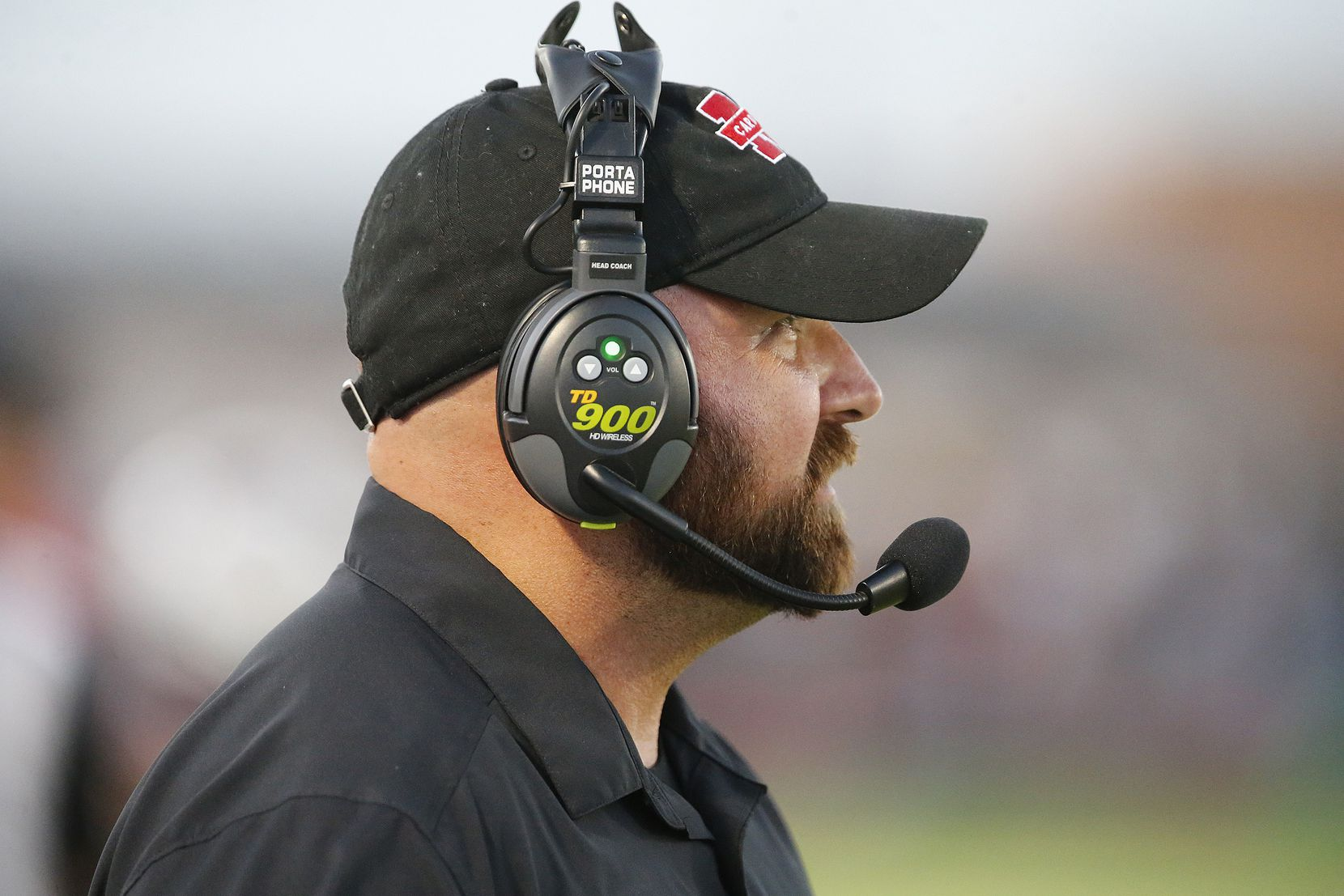 Melissa High School head coach Matt Nally watches action during the first half as Melissa High School hosted Celina High School at Cardinal Field in Melissa on Friday night, August 27, 2021. (Stewart F. House/Special Contributor)