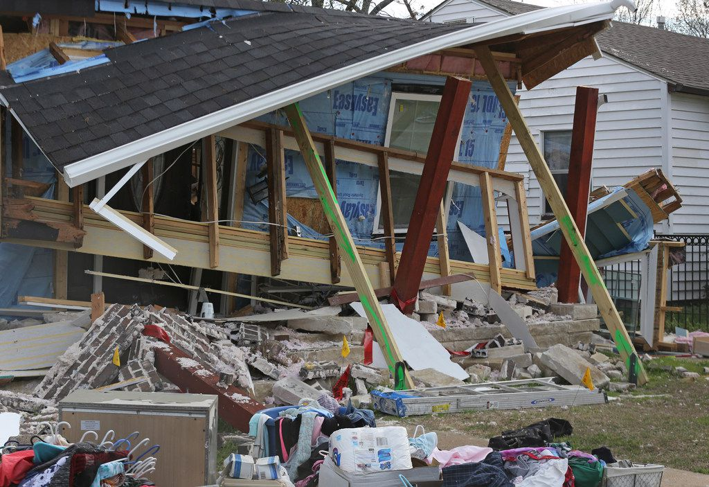 This house exploded at 3534 Espanola Drive in northwest  Dallas in 2018.