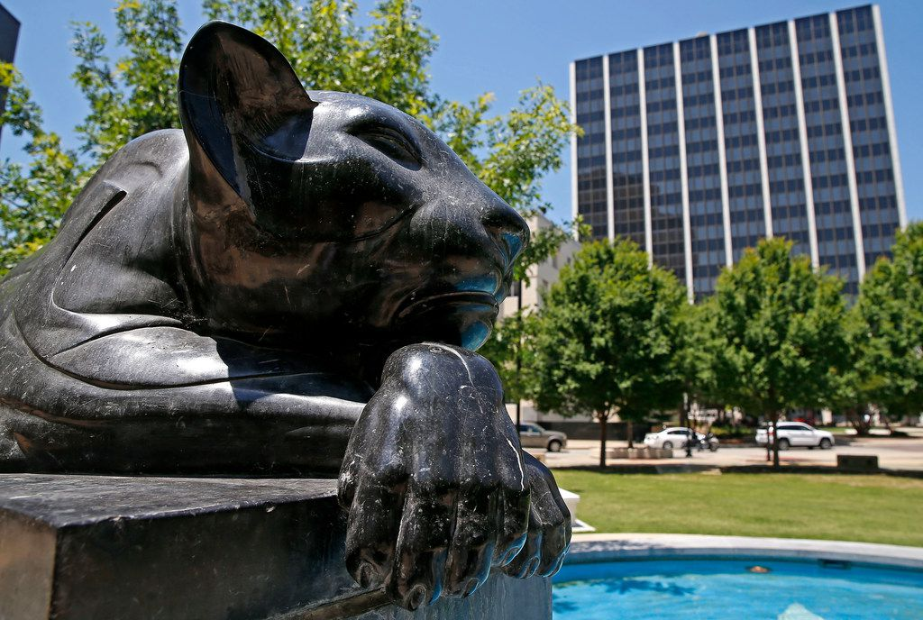 Panther City Fountain in Fort Worth.