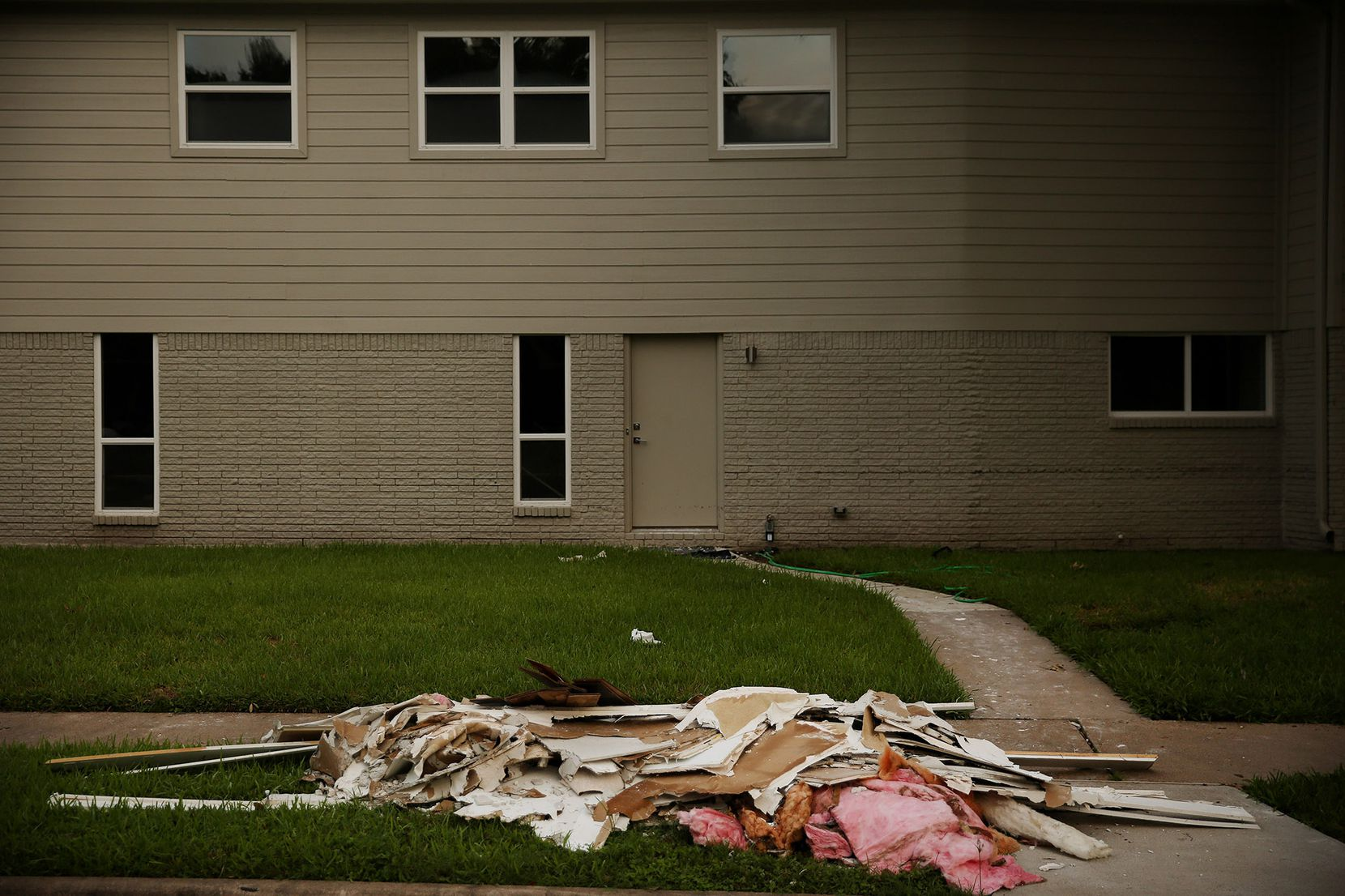 Elevated homes didn't appear to have as much as damage as some of their neighbors' after Harvey. Residents in the area said people who experienced flooding in the past adjusted the height of their homes to minimize the impact of flooding in the future.