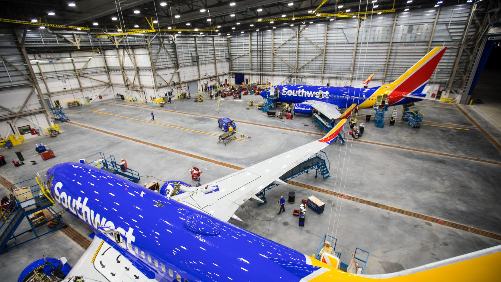 Southwest Airlines' new maintenance hangar at Houston Hobby Airport opened Wednesday.