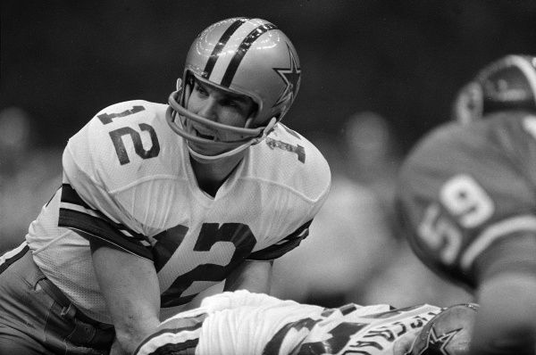 Dallas Cowboys quarterback Roger Staubach in Super Bowl XII action against the Denver Broncos in New Orleans, January 15, 1978