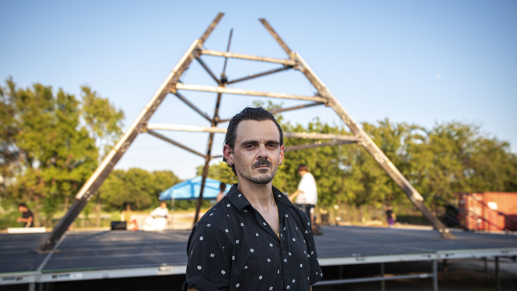 Nolan McGahan opened Tin Star Theater as a drive-in venue on the site of an empty lot in West Dallas.