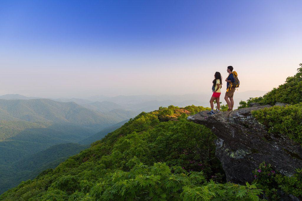 The scenic Blue Ridge Mountains offer plenty of hiking trails near Asheville, N.C.