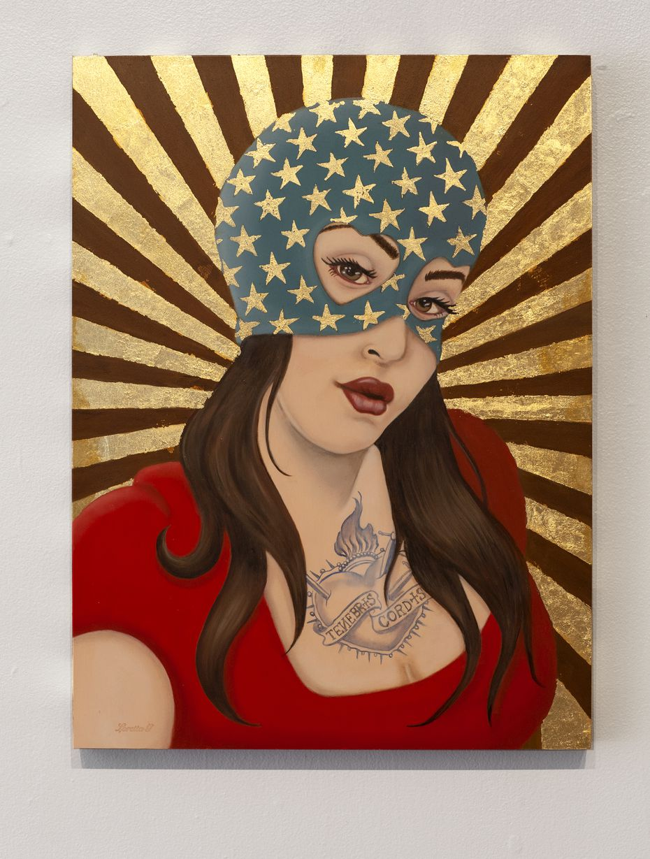 """Loretta Gonzalez's """"Dark Heart"""" is featured in the exhibition, which runs through Feb. 14."""