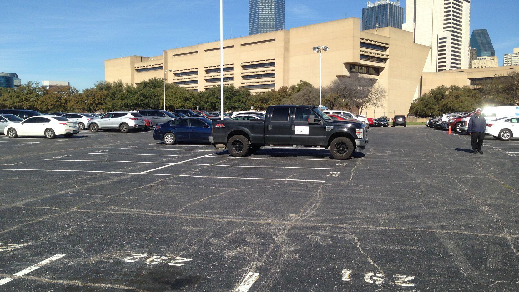 One of three blocks businessman Mike Hoque bought near Dallas' City Hall for future development.