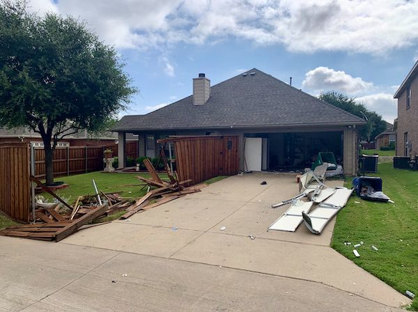 Vicki Baker's McKinney home suffered damages last July after police used tear gas and other explosives to try to apprehend a fugitive inside it.