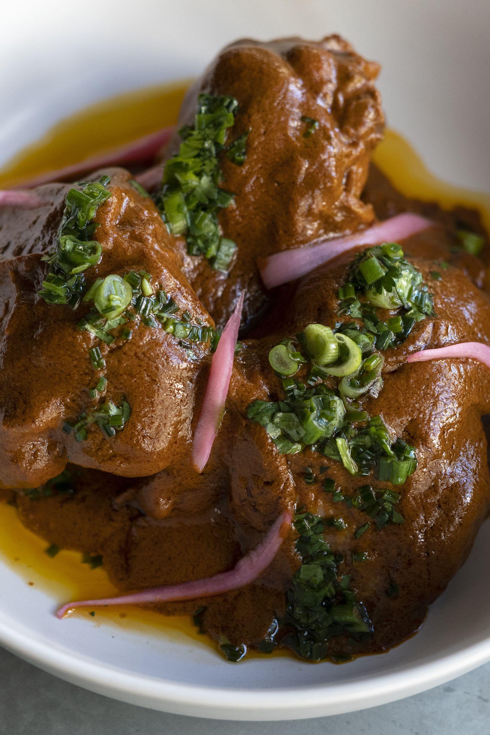 A dish of chicken pipián made Olivia Lopez