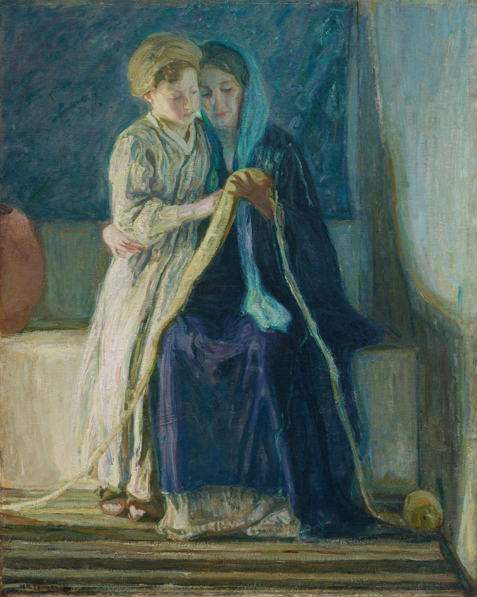 """Henry Ossawa Tanner's """"Christ and His Mother Studying the Scriptures"""" shows the artist's Impressionistic late-career style. (Dallas Museum of Art)"""