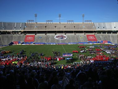 FILE — The opening of the Dallas Cup 2019 at Cotton Bowl Stadium on April 14, 2019