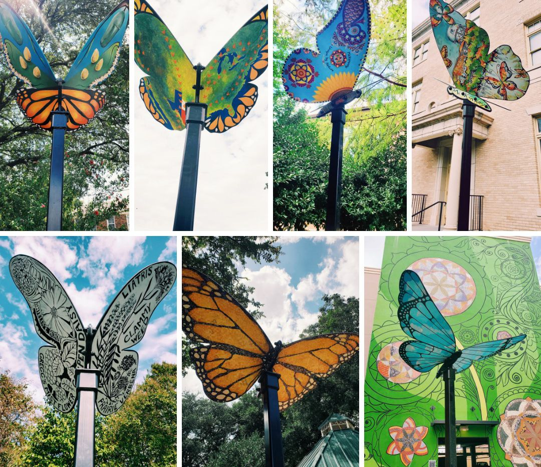 A new public art installation featuring eight steel butterfly sculptures is on view in McKinney this weekend, during Arts in Bloom.