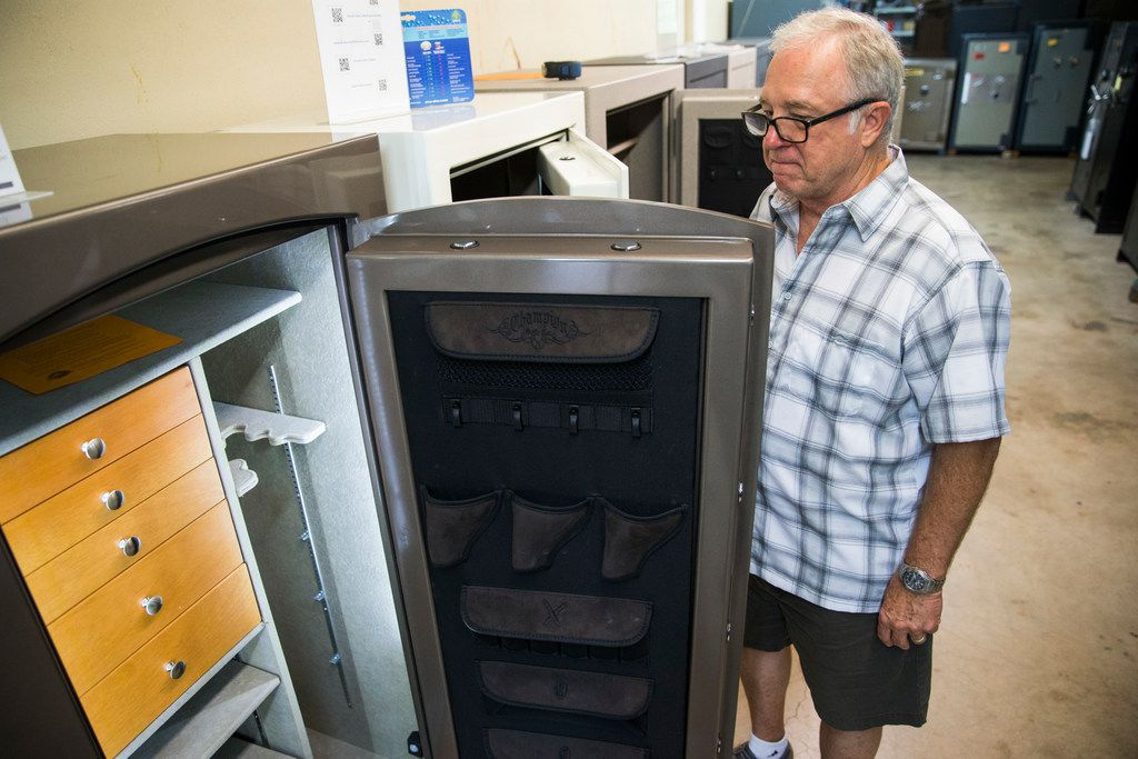 Bill Mahan, owner of The Safe Company, has praised the Trump administration for including imported safes on its next slate of proposed China tariffs. But part of the reason he's pushing for the levies is that earlier steel tariffs have increased the prices on the American-made safes that he sells.. (Ashley Landis/The Dallas Morning News)