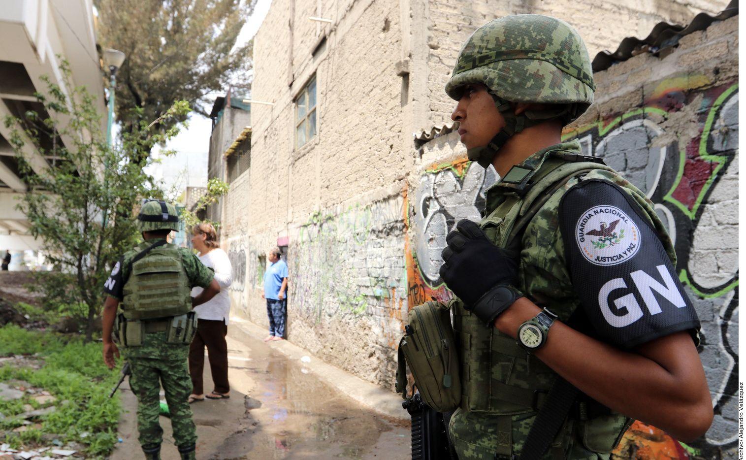 Elementos de la Guardia Nacional de México.