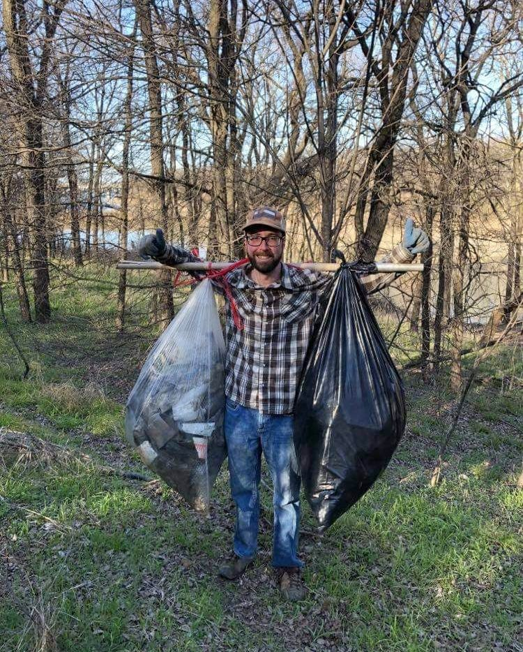 Brian Keys has picked up more than 2,000 pounds of garbage from the coves near Grapevine Lake.