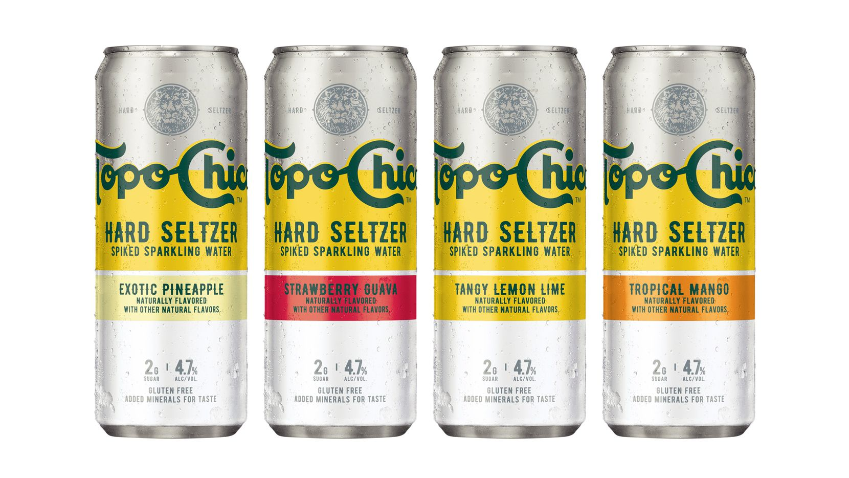 Topo Chico Hard Seltzer comes in four flavors. Notably, there's mango: That's one of the buzziest flavors from Topo Chico Hard Seltzer's main competitor, White Claw.