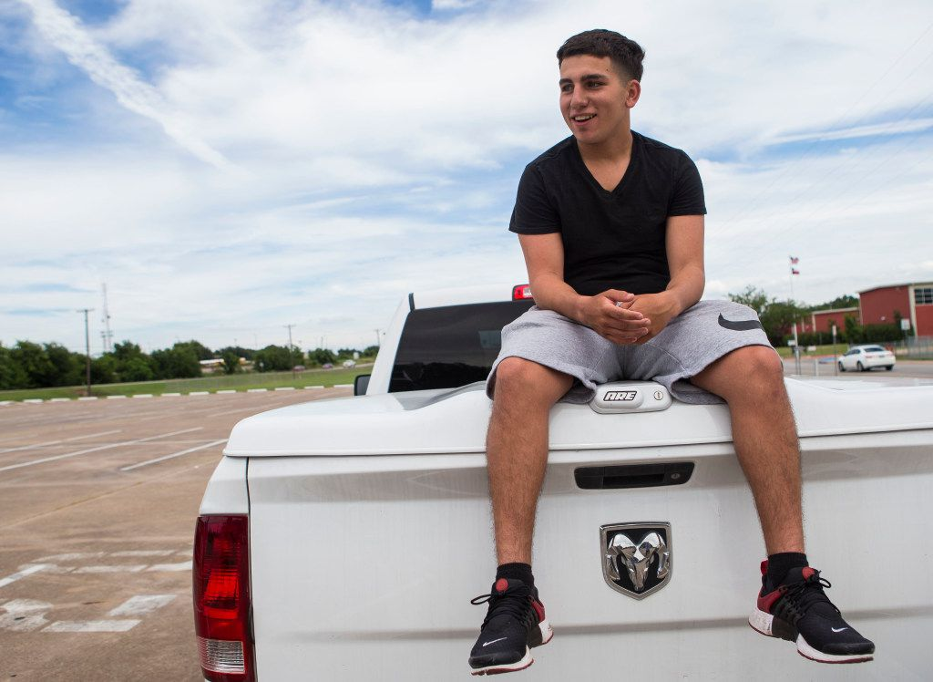 The death of his friend, Jordan Edwards, has prompted Alex Cuevas, 16, to think about his life. (Ryan Michalesko/The Dallas Morning News)