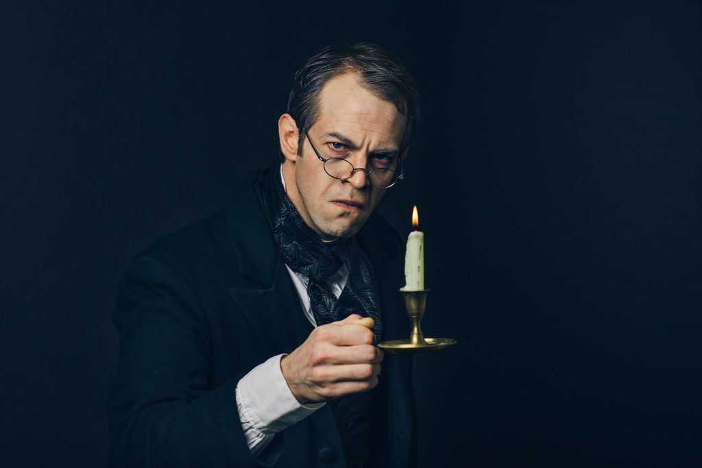 Alex Organ stars as Scrooge in A Christmas Carol, presented by Dallas Theater Center at the Wyly Theatre Nov. 21-Dec. 30.
