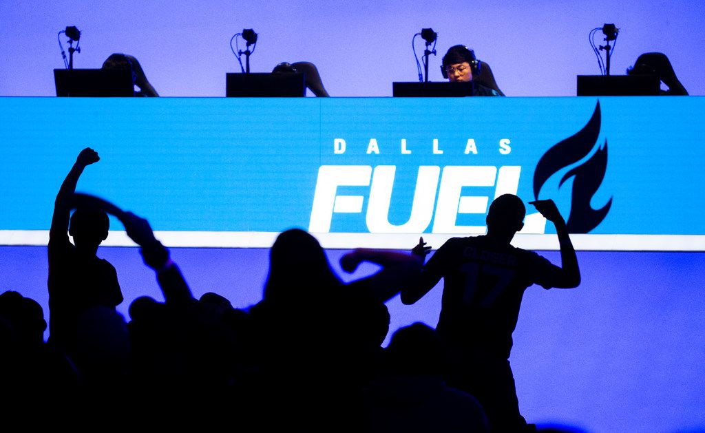 The Dallas Fuel plays against the San Francisco Shock on Feb. 9, 2020 at the Esports Stadium in Arlington.