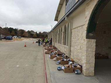 Turkey Baskets will be distributed in a drive-through on Saturday outside St. Gabriel's Catholic Church.