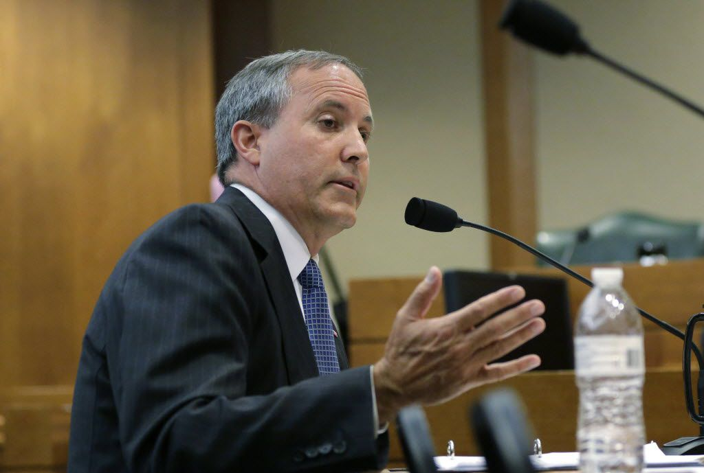 Texas Attorney General Ken Paxton speaks during a hearing in Austin in July. (AP Photo/Eric Gay)