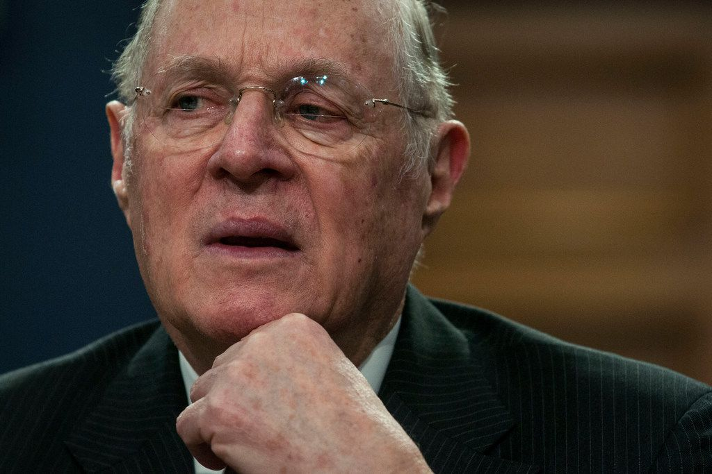 Supreme Court Justice Anthony Kennedy at a hearing on Capitol Hill in Washington in March 2015. Kennedy announced his intent to retire on June 27, 2018, setting the stage for a furious fight over the future direction of the Supreme Court. (Gabriella Demczuk/The New York Times)