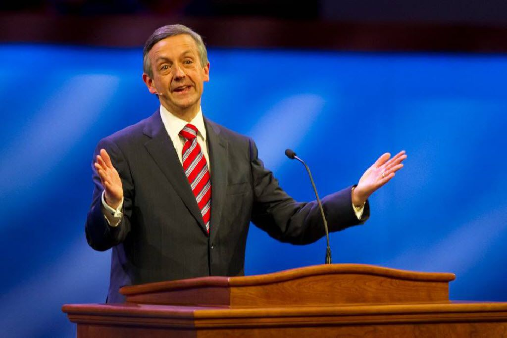 Earlier this year, First Baptist Dallas Pastor Robert Jeffress publicly supported Donald Trump's comments that women who get abortions should be punished. (2013 File Photo/Staff)