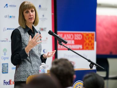 Plano ISD Superintendent Sara Bonser will have expanded powers during the coronavirus pandemic.