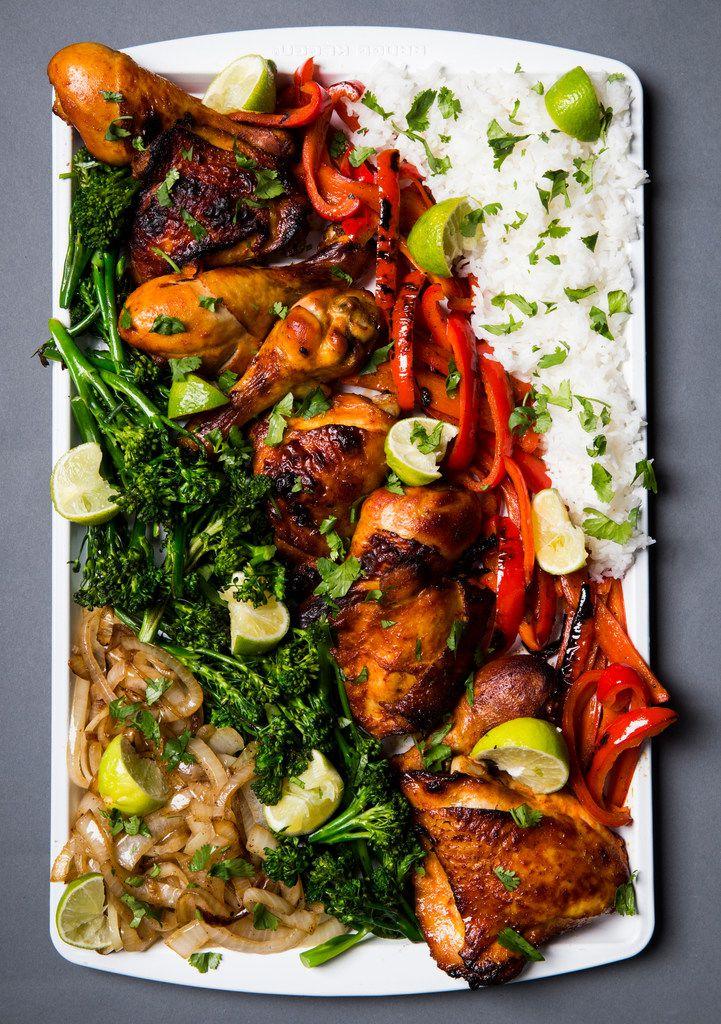 Gochujang sheet pan chicken and vegetables