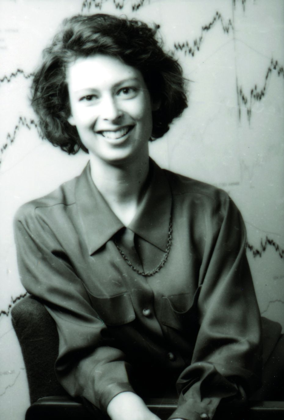 Abby Johnson as a Fidelity investment professional early in her career in the 1990s.