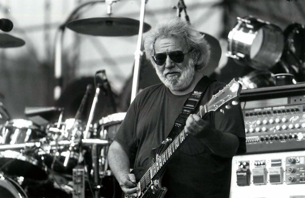 Jerry Garcia and The Grateful Dead perform at the University of Nevada, Las Vegas, in 1993.