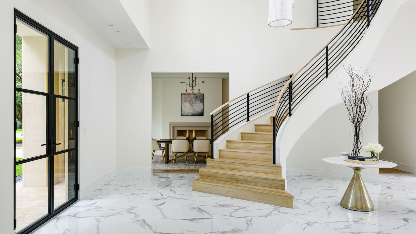 The new-construction home at 6315 Northwood Road in Preston Hollow features 7,000 square feet of living space.