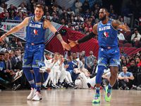 Luka Doncic and LeBron James shared the court at the 2020 All-Star Game in Chicago.