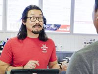 Smoothie maker or global businessman? Wan Kim wore a costume to hide his identity as the CEO of Smoothie King on 'Undercover Boss.' The episode airs Oct. 23, 2020.
