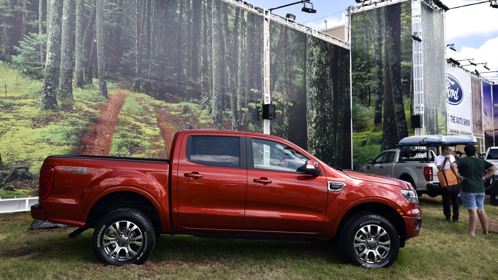The 2019 Ford Ranger on display at the State Fair of Texas.