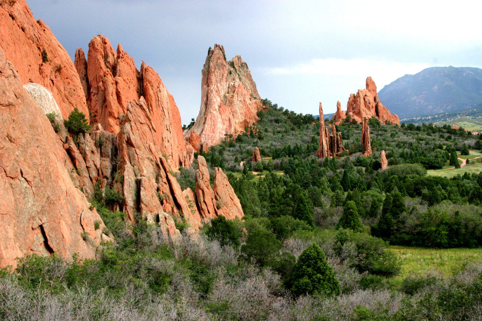 The unique rock formations of the Garden of the Gods are a short drive from Manitou Springs, Colo.