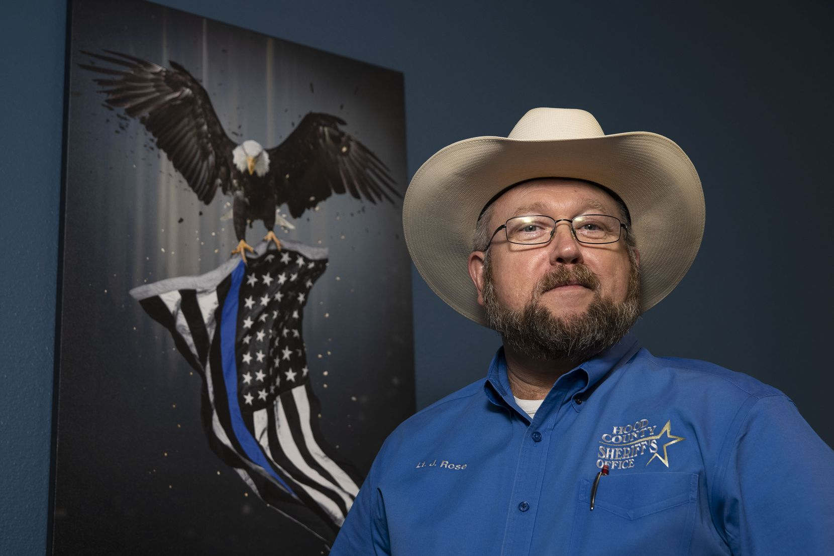 Lt. Johnny Rose poses for a portrait at the Hood County Sheriff's Office in Granbury, Texas, on Thursday, July 1, 2021. Rose helped investigate the death of Christopher Allen Whiteley.