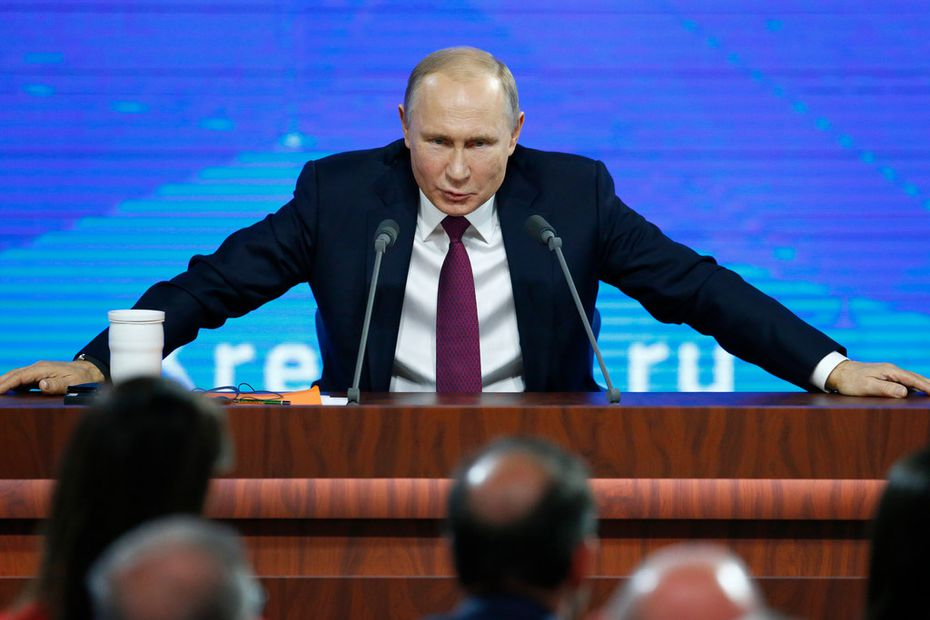 Russian President Vladimir Putin pointed at the U.S. intention to withdraw from the 1987 Intermediate-Range Nuclear Forces Treaty and said that if the U.S. puts intermediate-range missiles in Europe, Russia will be forced to take countermeasures.