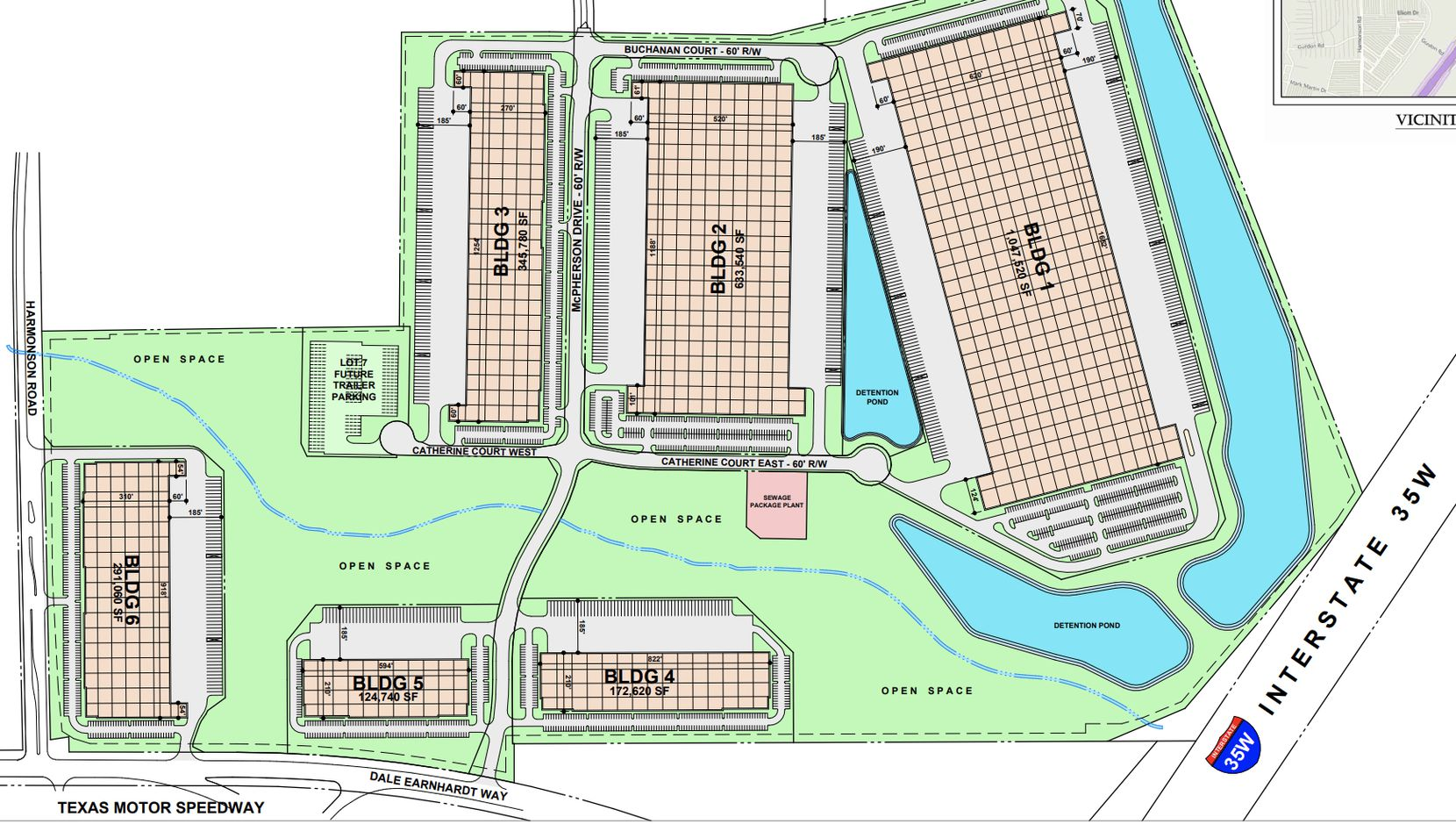 The Northlake 35 Logistics Park will have six buildings.