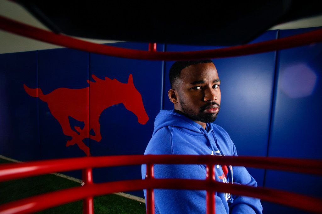Ra'Shaad Samples was hired by SMU to be an ace recruiter in his hometown. He's using the opportunity to show he can be a great coach, too. (Ryan Michalesko/The Dallas Morning News).