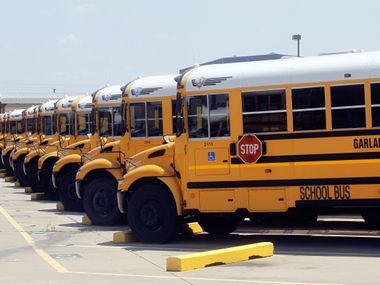 The busing of school kids to and from Garland ISD's core will carry a $5.9 million transportation cost in 2013-14, though the district receives some help with that funding.
