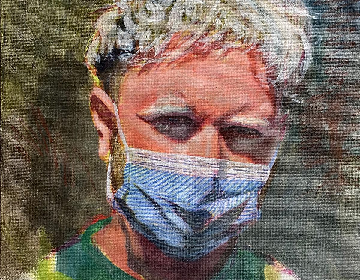 """""""PPE,"""" 2020 for The Normal Normal artists relief fund in Fort Worth"""